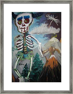 Death And Doll Framed Print