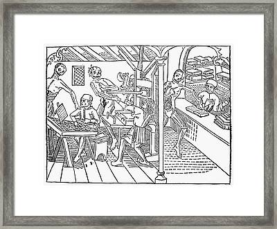 Death And The Printers Framed Print by Granger