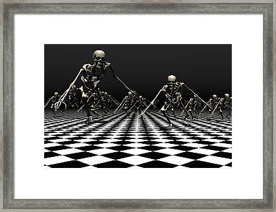 Death Approaches Framed Print