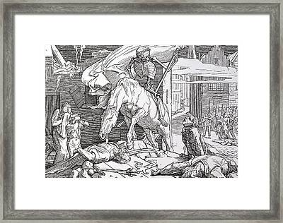 Death As Victor Framed Print by Alfred Rethel
