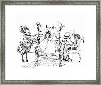 Death Bed Framed Print by Katherine Miller