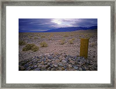 Framed Print featuring the photograph Death By The Elements by David Bailey