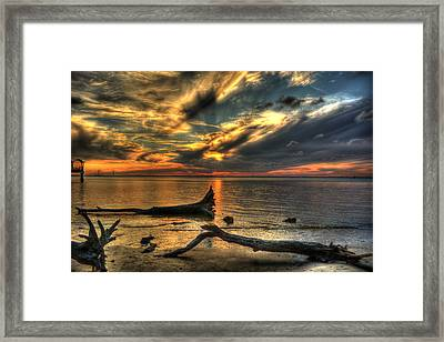 Death By Tide Framed Print by Greg and Chrystal Mimbs