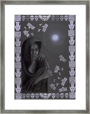 Death Crone Framed Print