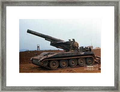 Death Dealer II  8 Inch Howitzer  At Lz Oasis Vietnam 1968 Framed Print by California Views Mr Pat Hathaway Archives