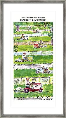 Death In The Afternoon Framed Print by Bill Woodman
