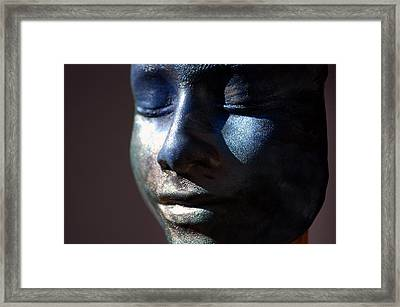 Death Mask Framed Print by Glenn McGloughlin