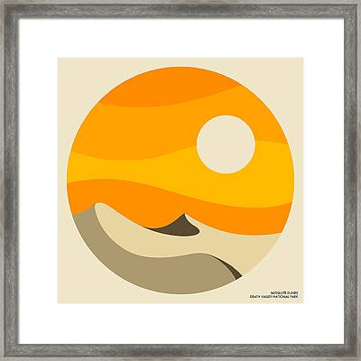 Death Valley National Park, Mesquite Dunes Framed Print by Jazzberry Blue
