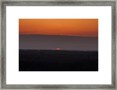 Death Of A Day Framed Print