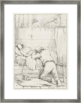 Death Of A Loved One Framed Print by Karel Frederik Bombled