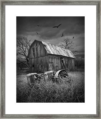 Death Of A Midwest Farm Framed Print by Randall Nyhof