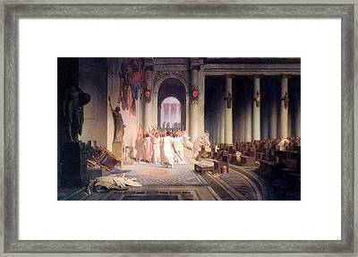 Death Of Caesar Framed Print by Jean Leon Gerome