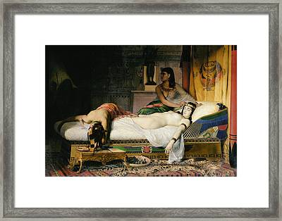 Death Of Cleopatra Framed Print by Jean-Andre Rixens
