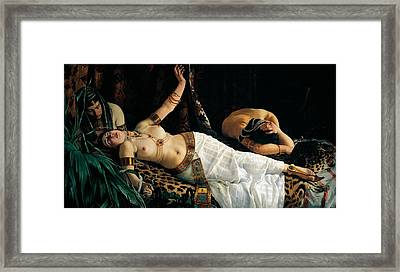 Death Of Cleopatra Framed Print