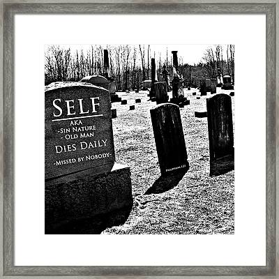 Death Of Flesh Framed Print by Stephanie Grooms