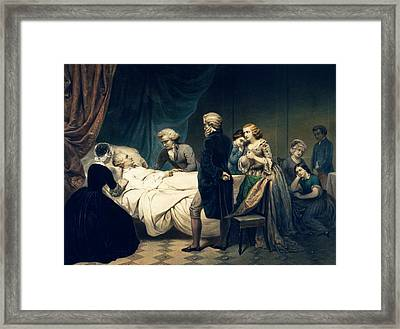Death Of George Washington Framed Print by Library Of Congress