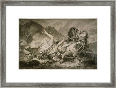 Death Of Hippolytos Carle Vernet, French Framed Print by Litz Collection