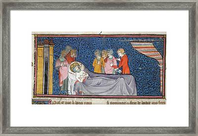 Death Of King Louis Ix Framed Print