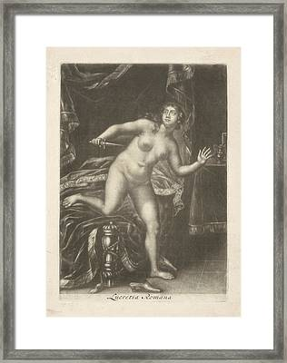 Death Of Lucretia, Jacob Gole Framed Print by Jacob Gole