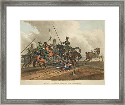 Death Of Major Gen. Ponsonby Framed Print