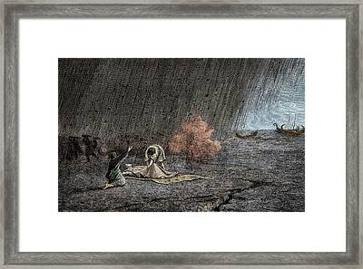 Death Of Pliny The Elder Framed Print by Sheila Terry