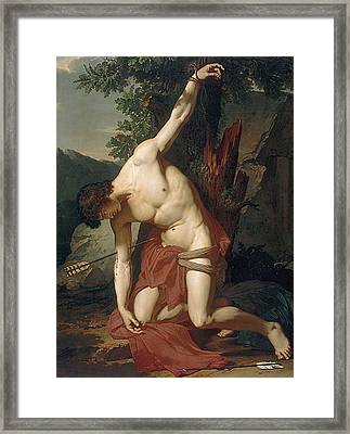Death Of Saint Sebasian Framed Print by Francois Xavier Fabre