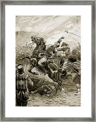 Death Of Sir Edward Pakenham Framed Print