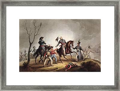 Death Of Sir John Moore January 17th Framed Print by William Heath