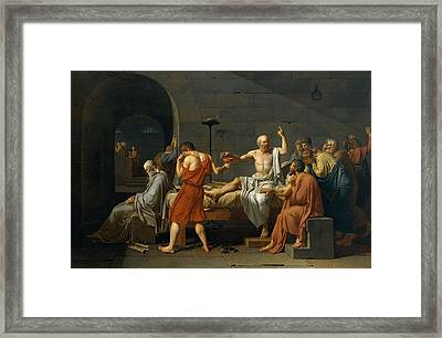 Death Of Socrates Framed Print by Jacques Louis David