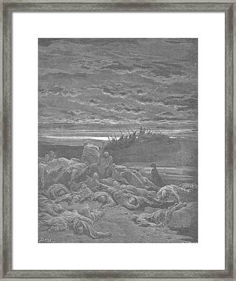 Death Of The Sons Of Gideon Framed Print