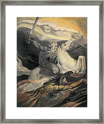 Death On A Pale Horse, C.1800 Framed Print by William Blake