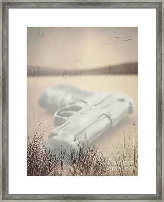 Death On Solid Water Framed Print by Edward Fielding