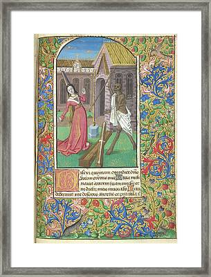 Death Overcoming A Lady Framed Print