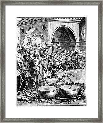 Death Playing A Drum Framed Print by Collection Abecasis
