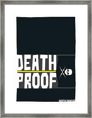 Death Proof Poster Framed Print by Geraldinez