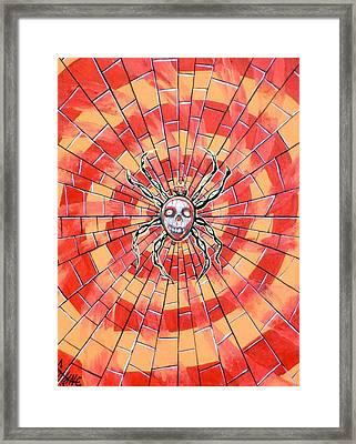 Death Spider Framed Print by Sam Hane