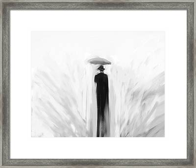 Death Takes A Holiday Framed Print by H James Hoff