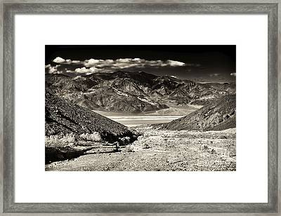 Death Valley Brown Tone Framed Print