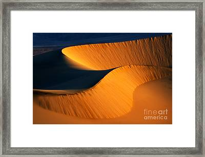 Death Valley California Gold Framed Print by Bob Christopher