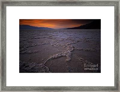 Death Valley Fiery Sunset Framed Print