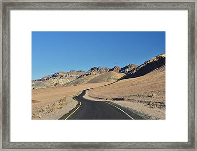 Framed Print featuring the photograph Death Valley Meander by Dana Sohr