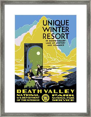 Death Valley National Park Vintage Poster Framed Print
