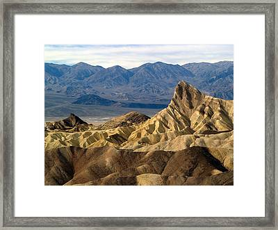 Death Valley Np Zabriskie Point 11 Framed Print