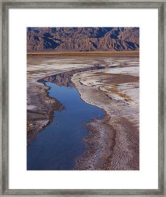 Death Valley Salt Stream 1 Framed Print