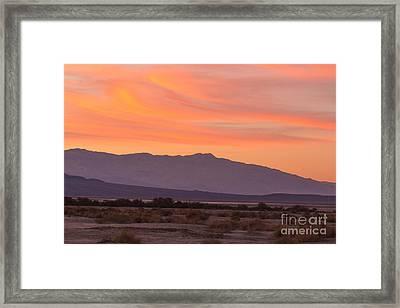 Death Valley Sunset Framed Print