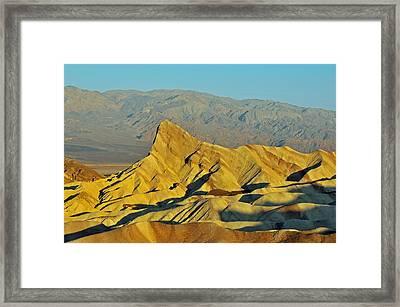 Death Valley Zabriskie Point Framed Print by Paul Van Baardwijk
