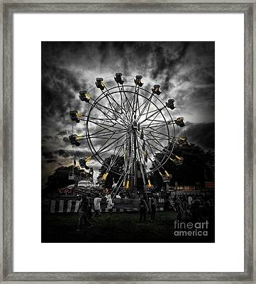 Death Wheel  Framed Print