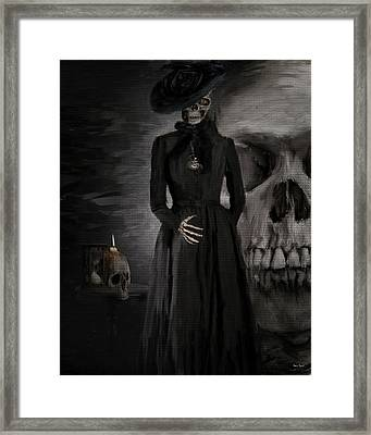 Deathly Grace Framed Print by Lourry Legarde