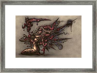Death's Angel Framed Print