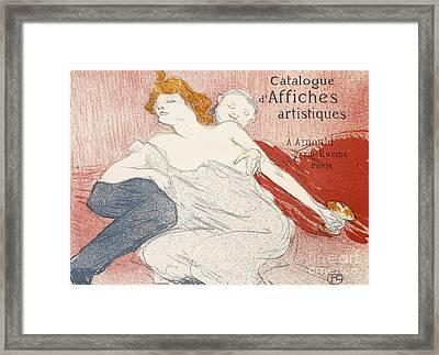 Debauche Deuxieme Planche Framed Print by Henri de Toulouse-Lautrec